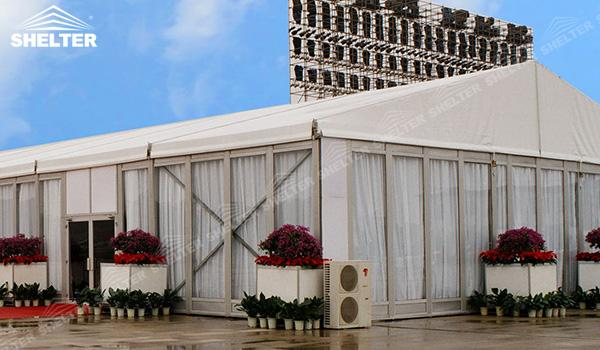 SHELTER Event Tent - White Event Tent - Commercial Marquee - Exhibition Hall - Aluminum Clear Span Structures - Large Fair Marquee for Sale (1)
