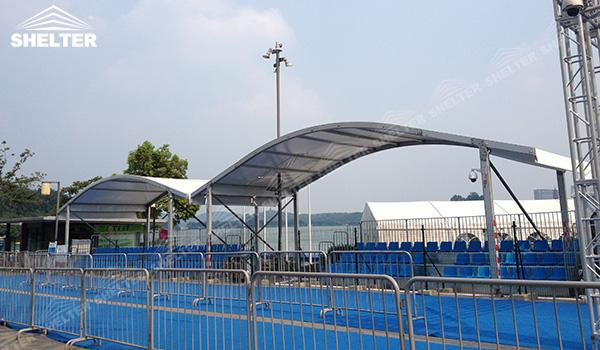 SHELTER Event Tent - Event Canopy Tent - Commercial Marquee - Exhibition Hall - Aluminum Clear Span Structures - Large Fair Marquee for Sale (4)