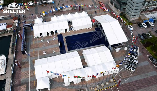 SHELTER Event Tent - Commercial Marquee - Exhibition Hall - Aluminum Clear Span Structures - Large Fair Marquee for Sale -2