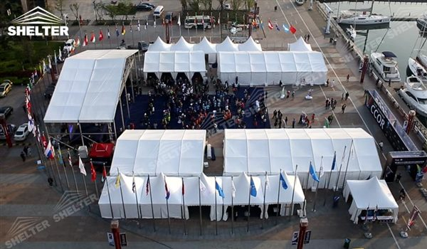 SHELTER Event Tent - Commercial Marquee - Exhibition Hall - Aluminum Clear Span Structures - Large Fair Marquee for Sale -4