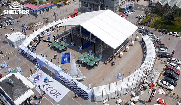 SHELTER Event Tent - Commercial Marquee - Exhibition Hall - Aluminum Clear Span Structures - Large Fair Marquee for Sale - (6)