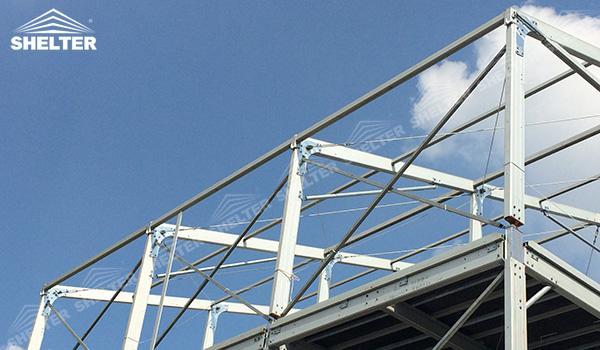 SHELTER Triple Tent - Multi Decker Tent - Frame Tent (2)