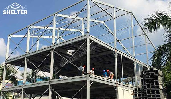 SHELTER Triple Tent - Multi Decker Tent - Frame Tent (3)