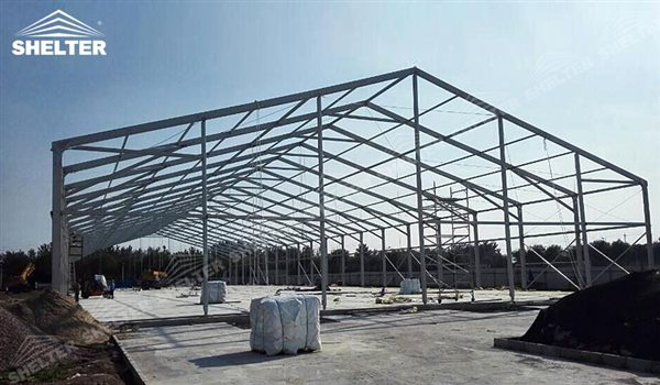 SHELTER Large Warehouse Tent - Tenporary Storage Buildings - Temporary Storage Tents - Clear Span Building for Sale -13