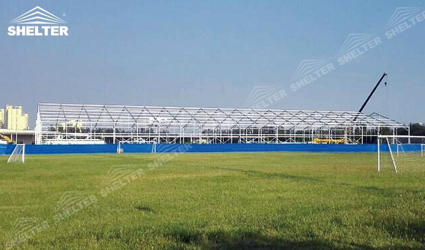 SHELTER Large Warehouse Tent - Tenporary Storage Buildings - Temporary Storage Tents - Clear Span Building & Shelter Set Up a 30x100 m Warehouse Tent in 7 Days - Wedding Tents ...