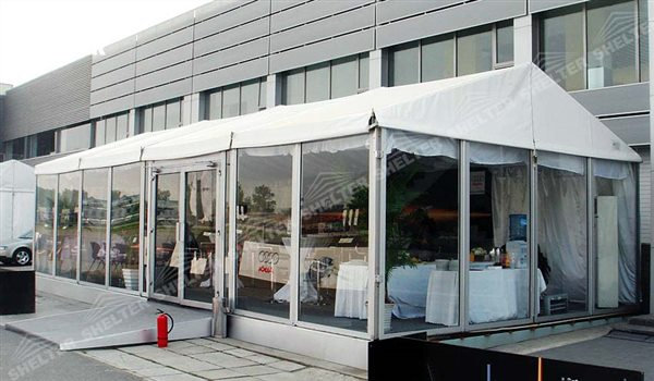 SHELTER Event Tent - Commercial Tent For Sale - Commercial Marquee - Exhibition Hall - Aluminum Clear Span Structures - Large Fair Marquee for Sale - (4)