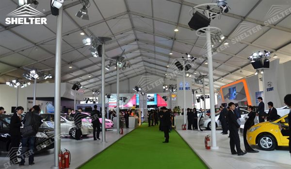 SHELTER Event Tent - Car Show - Commercial Marquee - Exhibition Hall - Aluminum Clear Span Structures - Large Fair Marquee for Sale -28