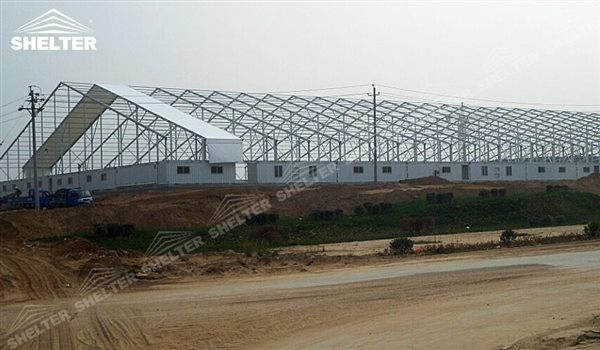 SHELTER Large Warehouse Tent - Temporary Warehouse Buildings - Temporary Storage Tents - Clear Span Building for Sale -16