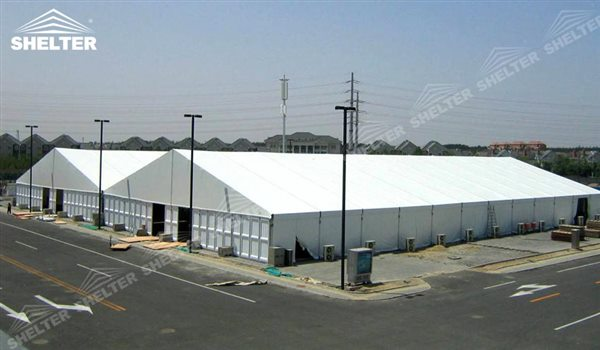 SHELTER Large Warehouse Tent - Temporary Warehouse Structure - Temporary Storage Tents - Clear Span Building for Sale -18