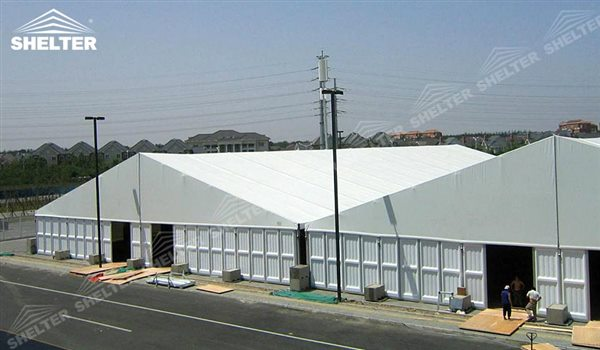 SHELTER Large Warehouse Tent - Temporary Warehouse Structure - Temporary Storage Tents - Clear Span Building for Sale -19