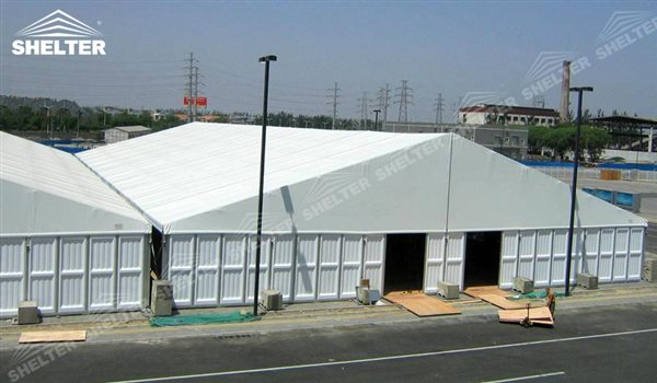 SHELTER Large Warehouse Tent - Temporary Warehouse Structure - Temporary Storage Tents - Clear Span Building for Sale -20