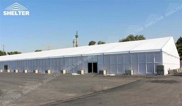 SHELTER Large Warehouse Tent - Temporary Warehouse Structure - Temporary Storage Tents - Clear Span Building for Sale - 21