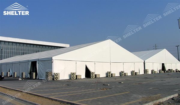 SHELTER Large Warehouse Tent - Outdoor Storage Tents - Temporary Storage Tents - Clear Span Building for Sale - 28