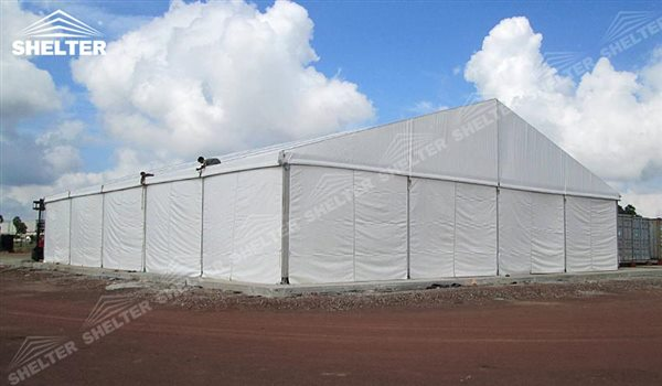 SHELTER Large Warehouse Tent - Outdoor Storage Tents - Temporary Storage Tents - Clear Span Building for Sale -30