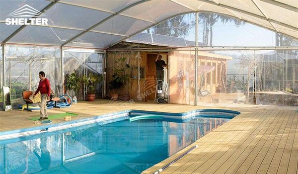 SHELTER Sports Tent - Swimming Pool Cover - Football Court Canopy - Sports Canopy - Basketball Tent Cover - Horse Training Cover - Tennis Yard Canopies - Gold Court Canopy -Shelter Aluminum Structures for Sale (3)