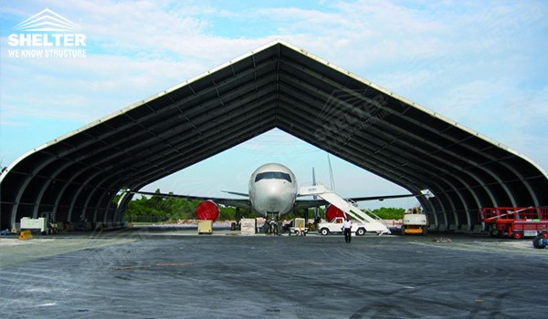 SHELTER Helicopter Hangar Tent - Aircraft Hangar - Aircraft Hangar Structures - Private Jet Hangar Structure - Airplane Hangar Tents for Sale (2)