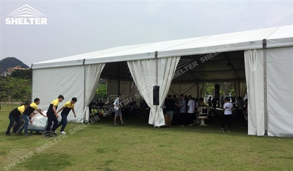 SHELTER Event Tent - Small Tent - Commercial Marquee - Exhibition Hall - Aluminum Clear Span Structures - Large Fair Marquee for Sale - (2)