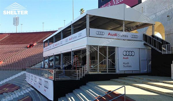 SHELTER Double Decker Tent - Double Decker Marquee - Sport Event Marquee - Two Story Structures - 2 Story Tensts -19