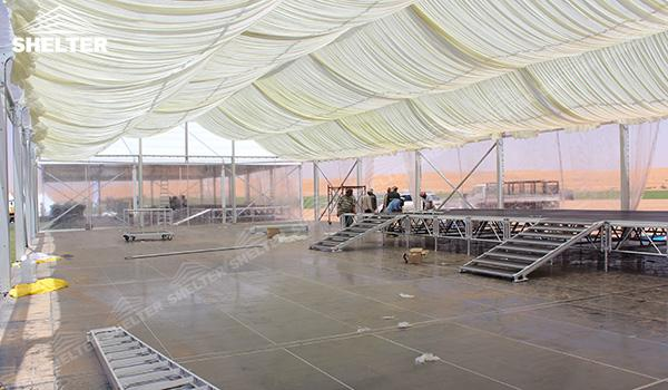 SHELTER Event Tent - Frame Tents for Churches - Commercial Marquee - Exhibition Hall - Aluminum Clear Span Structures - Large Fair Marquee for Sale (14)