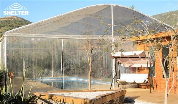 SHELTER Sports Event Tents - Curved Roof Tent - Curved Roof - Arch Tent - Arcum Tent - Large Exhibiton Marquee - Outdoor Event Marquees - White Tent for Sale - 1