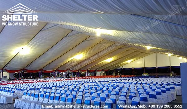 SHELTER Event Tent - Large Tents for Outdoor Events - Commercial Marquee - Ceremony Tent 40x75m - Aluminum Clear Span Structures - Large Marquee for Sale (2)