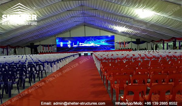SHELTER Event Tent - Large Tents for Outddor Events - Commercial Marquee - Ceremony Tent 40x75m - Aluminum Clear Span Structures - Large Marquee for Sale (4)