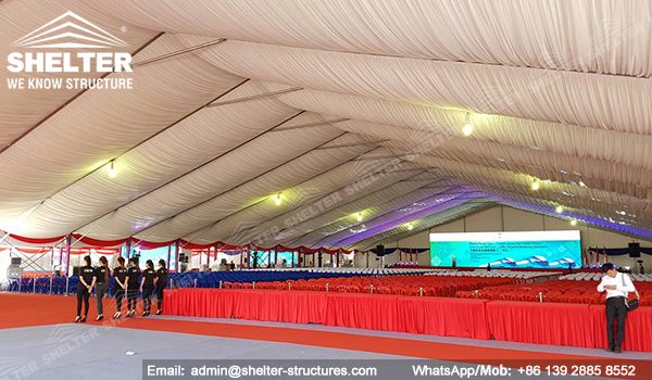 SHELTER Event Tent - Large Tents for Outdoor Events - Commercial Marquee - Ceremony Tent 40x75m - Aluminum Clear Span Structures - Large Marquee for Sale (7)