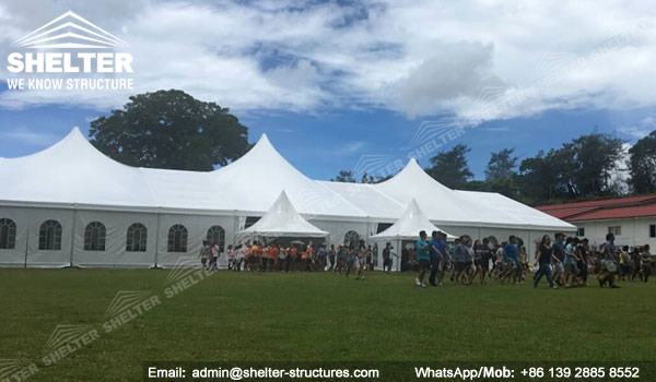 SHELTER Mixed Party Tent - Church Building Structure - Luxury Wedding Marquee - High Peak Tents - Bellend Tent - Yuma Tent for Sale - 25x50m Mixed Party Tent (4)