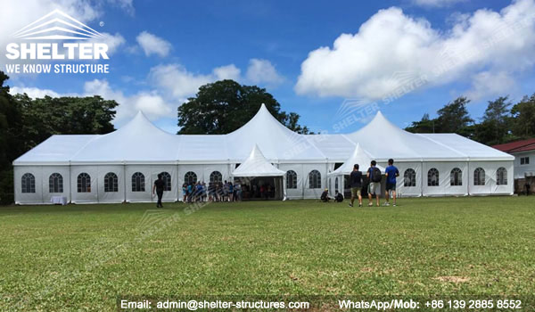 SHELTER Mixed Party Tent - Church Building Structure - Luxury Wedding Marquee - High Peak Tents - Bellend Tent - Yuma Tent for Sale - 25x50m Mixed Party Tent (6)