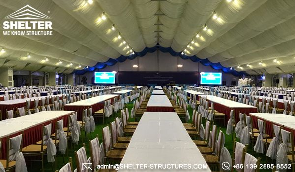 40x65m A Framed Tent for Royal Wedding - Wedding Tent Sale in Africa - Luxury Wedding Tent Structure - Shelter Structures (10)