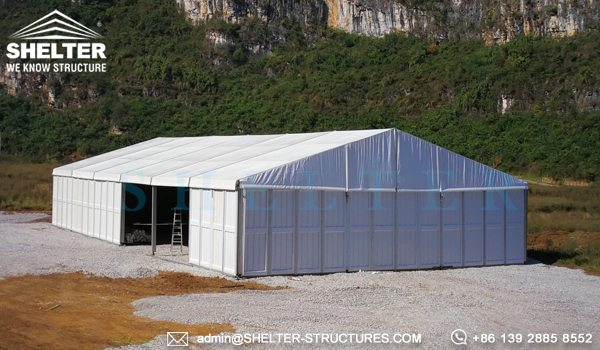 Temporary Outside Storage Tent - Temporary Warehouse Structure - Fast Erected Storage Tent for Sale - Modular Aluminum Tent for Storage - Shelter Structures (4)