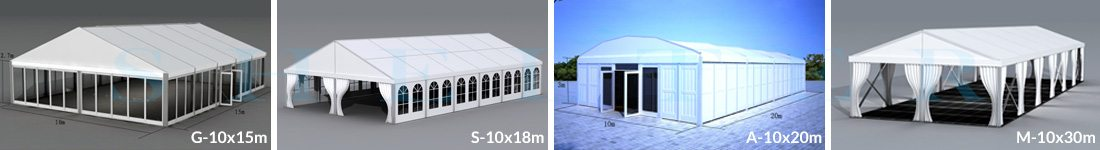10m Span Wedding Marquees for Sale in Africa - Shelter Structures