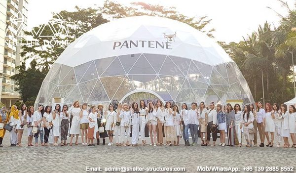Tents Manufacturer - 18m Event Dome for Sale - Branding Dome Structure for Pantene - Large Geodesic Dome with Panoramic View - Shelter Dome (7)