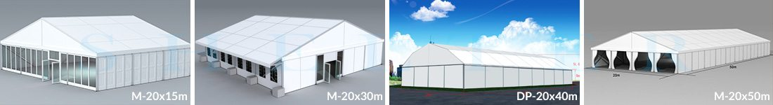 20m Span Wedding Marquees for Sale in Africa - Shelter Structures