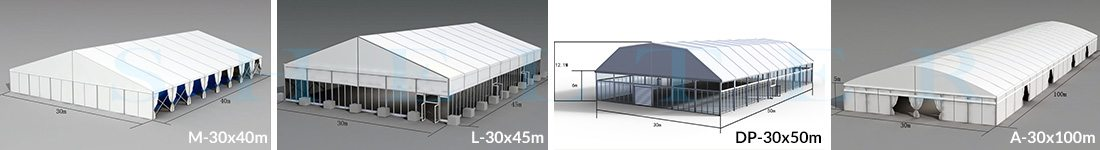 30m Span Wedding Marquees for Sale in Africa - Shelter Structures