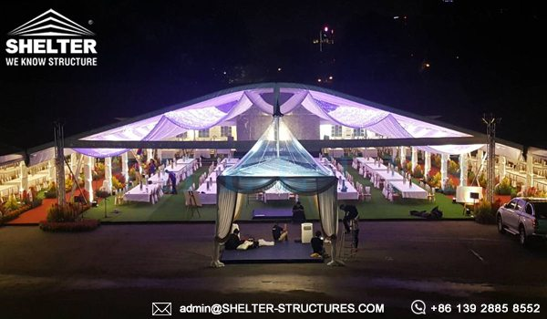 Tents Manufacturer - 35x50m Arcum Tent for Royal Wedding - Arch Tent Structure for Outdoor Wedding - Wedding Tent for Sale - Shelter Structures (4)