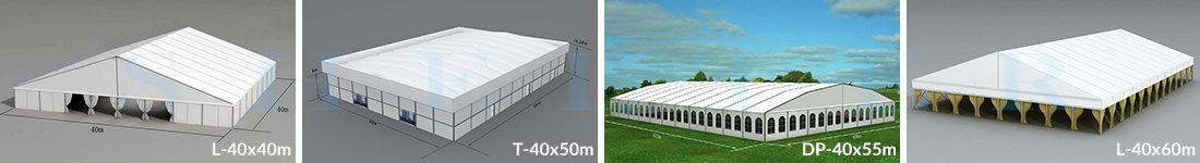 40m Span Wedding Marquees for Sale in Africa - Shelter Structures
