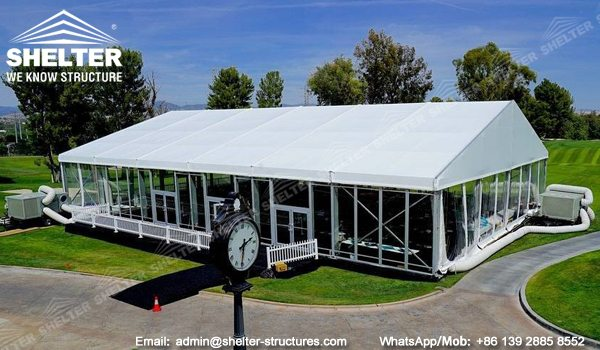 Tents Manufacturer - 600 sqm Event Tent Structures - 20x30m Clear Span Structure for Event - Temporary Structure with Glass Sidewalls for Sale - Shelter Structures (8)