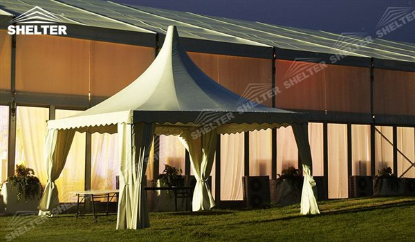 SHELTER Pagoda Tent - Pagoda Tents - Top Marquee - Chinese Hat Tents - Pinnacle Marquees -1