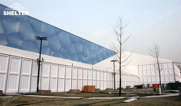 SHELTER Event Tent - Outdoor Event Tent - Commercial Marquee - Exhibition Hall - Aluminum Clear Span Structures - Large Fair Marquee for Sale - 32