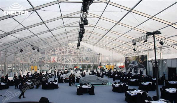 SHELTER Event Tent - Outdoor Event Tent - Commercial Marquee - Exhibition Hall - Aluminum Clear Span Structures - Large Fair Marquee for Sale - 35