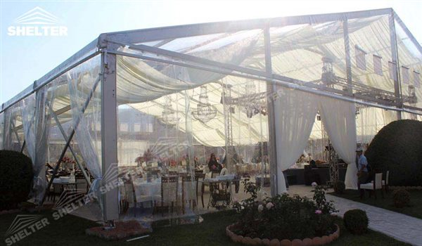 SHELTER Luxury Wedding Marquee - Transparent Tent - Large Weddings Tent - Party Marquees for Sale - 133