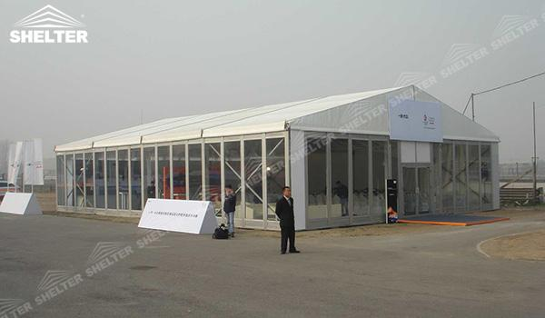 SHELTER Event Tent - Commercial Tent For Sale - Commercial Marquee - Exhibition Hall - Aluminum Clear Span Structures - Large Fair Marquee for Sale - (1)