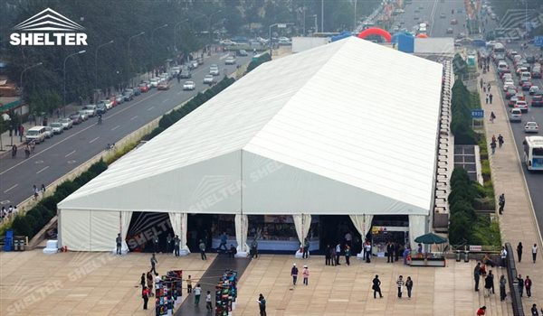 SHELTER Event Tent - Large Event Marquee - Commercial Marquee - Exhibition Hall - Aluminum Clear Span Structures - Large Fair Marquee for Sale -6
