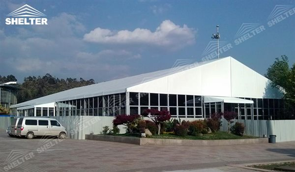 SHELTER Event Tent - Hospitality Tent - Jet Tent - Large Event Marquee - Sport Structures for Sale - Commercial Marquee - Exhibition Hall - Aluminum Clear Span Structures - Large Fair Marquee for Sale -22