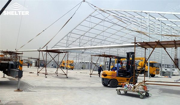 SHELTER Large Warehouse Tent - Temporary Warehouse Buildings - Temporary Storage Tents - Clear Span Building for Sale -17