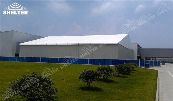 SHELTER Large Warehouse Tent - Outdoor Warehouse Tents - Temporary Storage Tents - Clear Span Building for Sale -2