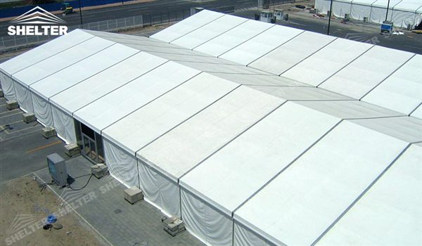 SHELTER Large Warehouse Tent - Outdoor Storage Tents - Temporary Storage Tents - Clear Span Building for Sale - 29