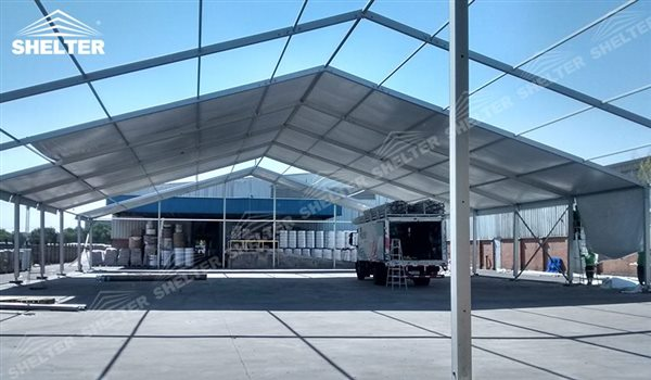 SHELTER Large Warehouse Tent - Outdoor Storage Tent - Temporary Storage Tents - Clear Span Building for Sale -42