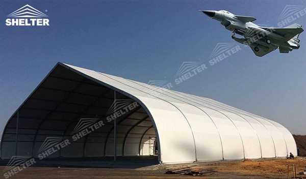 SHELTER Helicopter Hangar Tent - Aircraft Hangar - Aircraft Hangar Structures - Private Jet Hangar Structure - Airplane Hangar Tents for Sale (9)